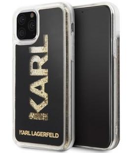 """Auksinės spalvos dėklas Apple iPhone 11 Pro Max telefonui """"KLHCN65KAGBK Karl Lagerfeld TPU Glitter Cover"""""""