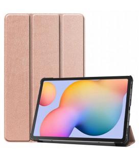 """Rausvai auksinės spalvos atverčiamas dėklas Samsung Galaxy Tab S6 Lite 10.4 P610/P615 planšetei """"Tech-Protect Smartcase"""""""