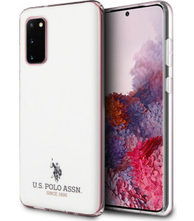"Baltas dėklas Samsung Galaxy S20 telefonui ""USHCS62TPUWH U.S. Polo Small Horse Cover"""