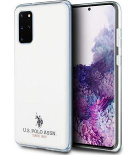 "Baltas dėklas Samsung Galaxy S20 Plus telefonui ""USHCS67TPUWH U.S. Polo Small Horse Cover"""
