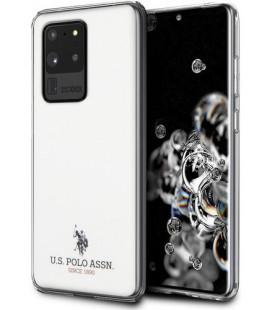 "Baltas dėklas Samsung Galaxy S20 Ultra telefonui ""USHCS69TPUWH U.S. Polo Small Horse Cover"""