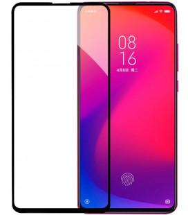 """5D Lenktas juodas apsauginis grūdintas stiklas Xiaomi Mi 9T telefonui """"Full Glue"""""""