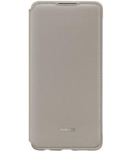 """Originalus rudas (Khaki) atverčiamas dėklas Huawei P30 telefonui """"Wallet Case"""""""