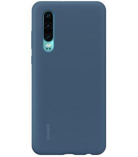 """Originalus mėlynas dėklas Huawei P30 telefonui """"Silicone Car Case"""""""
