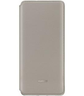 """Originalus rudas (Khaki) atverčiamas dėklas Huawei P30 Pro telefonui """"Wallet Case"""""""