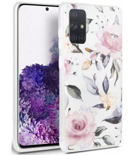 "Baltas dėklas Samsung Galaxy A41 telefonui ""Tech-protect Floral"""