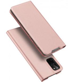 """Rausvai auksinės spalvos atverčiamas dėklas Samsung Galaxy S20 Plus telefonui """"Dux Ducis Skin Pro"""""""