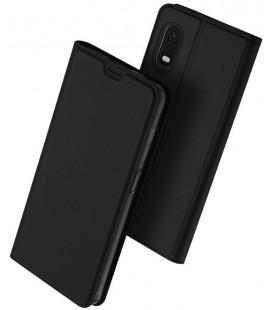 """Juodas atverčiamas dėklas Samsung Galaxy Xcover Pro telefonui """"Dux Ducis Skin Pro"""""""