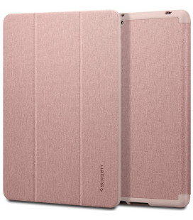 """Rausvai auksinės spalvos atverčiamas dėklas Apple iPad 10.2 2019 plašetei """"Spigen Urban Fit"""""""