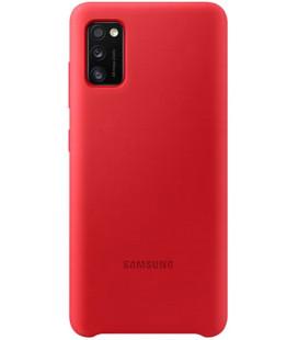 """Originalus raudonas dėklas """"Silicone Cover"""" Samsung Galaxy A41 telefonui """"EF-PA415TRE"""""""