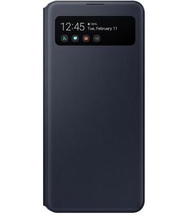 """Originalus juodas atverčiamas dėklas """"S-View Case"""" Samsung Galaxy A41 telefonui """"EF-EA415PBE"""""""