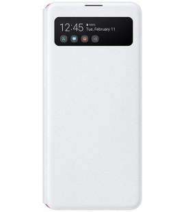 """Originalus baltas atverčiamas dėklas """"S-View Case"""" Samsung Galaxy A41 telefonui """"EF-EA415PWE"""""""
