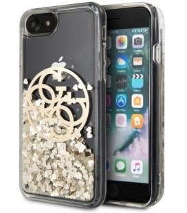 """Auksinės spalvos dėklas Apple iPhone 7/8/SE 2020 telefonui """"GUHCI8LGGITDGO Guess Circle Glitter Cover"""""""