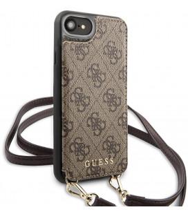 "Rudas dėklas Apple iPhone 7/8/SE 2020 telefonui ""GUHCI8CB4GB Guess 4G Crossbody Cardslot Cover"""