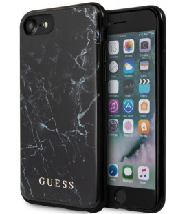 "Juodas dėklas Apple iPhone 7/8/SE 2020 telefonui ""GUHCI8PCUMABK Guess Marble Cover"""
