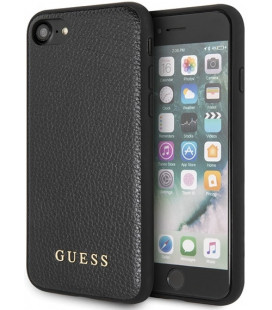 "Juodas dėklas Apple iPhone 7/8/SE 2020 telefonui ""GUHCI8GLBK Guess IriDescent TPU Cover"""