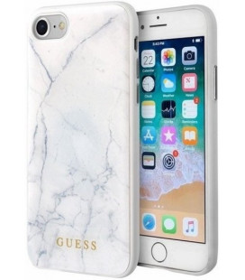 "Baltas dėklas Apple iPhone 7/8/SE 2020 telefonui ""GUHCI8PCUMAWH Guess Marble Cover"""