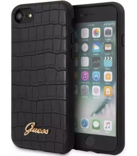 "Juodas dėklas Apple iPhone 7/8/SE 2020 telefonui ""GUHCI8PCUMLCRBK Guess Croco Cover"""