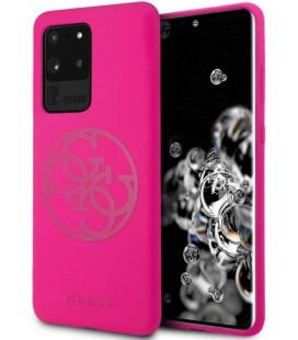 "Rožinis dėklas Samsung Galaxy S20 Ultra telefonui ""GUHCS69LS4GFU Guess 4G Tone Logo Cover"""
