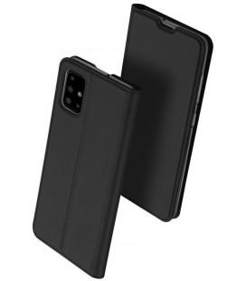 """Juodas atverčiamas dėklas Samsung Galaxy A41 telefonui """"Dux Ducis Skin Pro"""""""