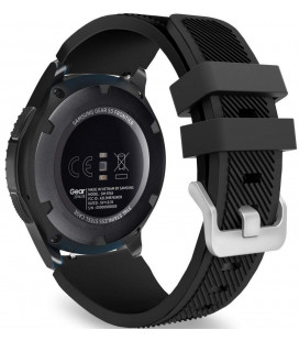 """Juoda apyrankė Samsung Galaxy Watch 46mm laikrodžiui """"Tech-Protect Smoothband"""""""