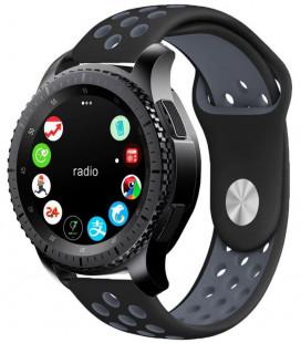 """Juoda/pilka apyrankė Samsung Galaxy Watch 46mm laikrodžiui """"Tech-Protect Softband"""""""