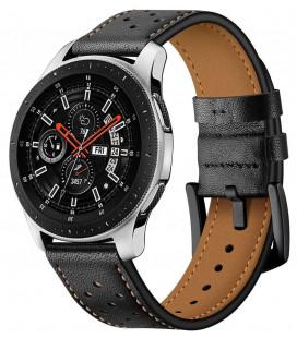 """Juoda apyrankė Samsung Galaxy Watch 46mm laikrodžiui """"Tech-Protect Leather"""""""