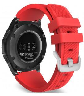 """Raudona apyrankė Samsung Galaxy Watch 46mm laikrodžiui """"Tech-Protect Smoothband"""""""