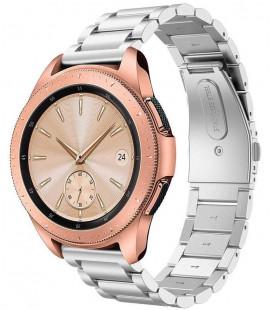 """Sidabrinės spalvos apyrankė Samsung Galaxy Watch 42mm laikrodžiui """"Tech-Protect Stainless"""""""