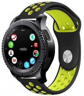"""Juoda/žalia apyrankė Samsung Galaxy Watch 42mm laikrodžiui """"Tech-Protect Softband"""""""