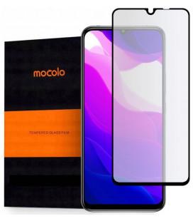 """Juodas apsauginis grūdintas stiklas Xiaomi Mi 10 Lite telefonui """"Mocolo TG Full Glue"""""""