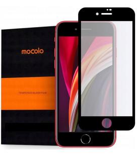 """Juodas apsauginis grūdintas stiklas Apple iPhone 7/8/SE 2020 telefonui """"Mocolo TG Full Glue"""""""