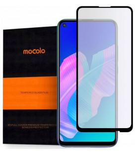 """Juodas apsauginis grūdintas stiklas Huawei P40 Lite E telefonui """"Mocolo TG Full Glue"""""""