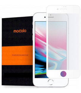"Baltas apsauginis grūdintas stiklas Apple iPhone 7/8/SE 2020 telefonui ""Mocolo TG Full Glue"""