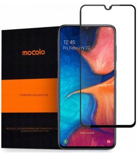 """Juodas apsauginis grūdintas stiklas Samsung Galaxy A10 telefonui """"Mocolo TG Full Glue"""""""