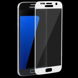 """Stiklo apsauga - lenktas baltas grūdintas stiklas """"Tempered Glass"""" Samsung Galaxy S7 G930 telefonui."""