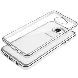 """Sidabrinės spalvos silikoninis dėklas Samsung Galaxy A5 2016 A510 Telefonui """"Glossy"""""""