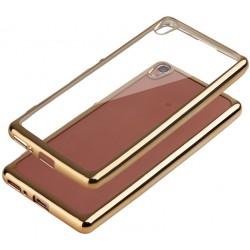 """Auksinės spalvos silikoninis dėklas Sont Xperia XA Telefonui """"Glossy"""""""