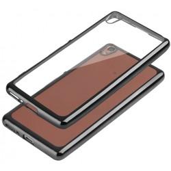 "Juodas silikoninis dėklas Sont Xperia XA Telefonui ""Glossy"""