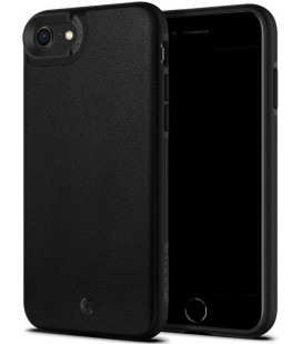 """Juodas dėklas Apple iPhone 7/8/SE 2020 telefonui """"Spigen Ciel Leather Brick"""""""