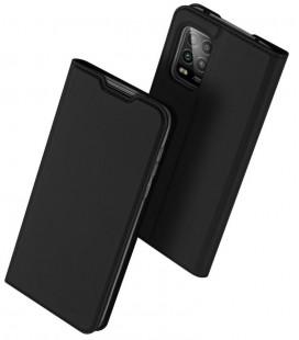 """Juodas atverčiamas dėklas Xiaomi Mi 10 Lite telefonui """"Dux Ducis Skin Pro"""