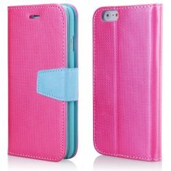 """Rožinis atverčiamas dėklas iPhone 6/6s telefonui """"Purse"""""""
