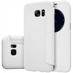 """Atverčiamas baltas dėklas Samsung Galaxy S7 Edge G935 telefonui """"Nillkin Sparkle S-View"""""""