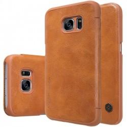 """Odinis rudas atverčiamas dėklas Samsung Galaxy Note 7 N930 telefonui """"Nillkin Qin"""""""