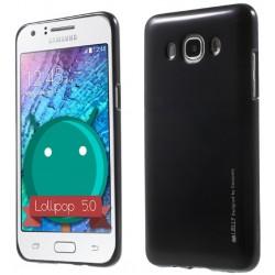 """Juodas silikoninis dėklas Samsung Galaxy J5 2016 J510 telefonui """"Mercury iJelly Case Metal"""""""