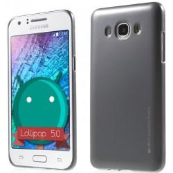 """Pilkas silikoninis dėklas Samsung Galaxy J5 2016 J510 telefonui """"Mercury iJelly Case Metal"""""""