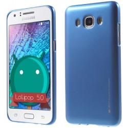"""Mėlynas silikoninis dėklas Samsung Galaxy J5 2016 J510 telefonui """"Mercury iJelly Case Metal"""""""