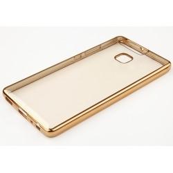 """Auksinės spalvos silikoninis dėklas Huawei P9 Lite Telefonui """"Glossy"""""""