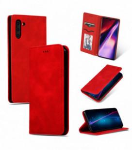 Dėklas Business Style Samsung A715 A71 raudonas