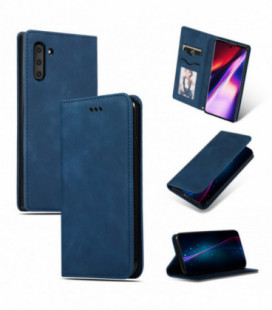 Dėklas Business Style Samsung A715 A71 tamsiai mėlynas